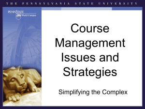 Course Management Issues