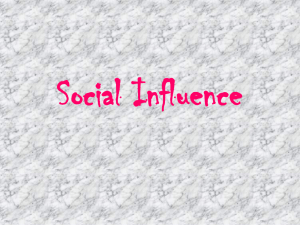 Social Influence - AP Psychology Community