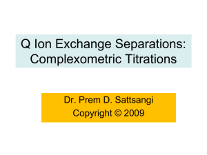 Q-Ion Exchange Separations