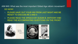 AIM #49: What was the most important Gilded Age reform movement?