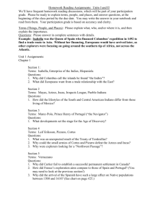 Unit I and II Homework Reading Assignment Sheet