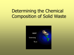 Estimation of chemical composition of a solid waste sample