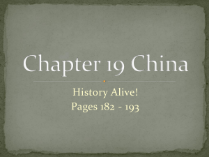 Chapter 19 China - Mr. Corell's Sixth Grade Class