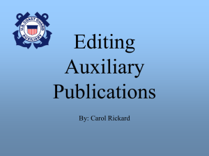 Editing Auxiliary Publications