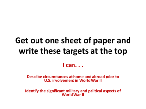 Get out one sheet of paper and write these targets at the top I can