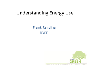 Understanding energy use