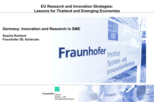 Germany: Innovation and Research in SME