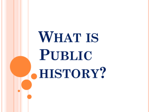 What is Public History - National Constitution Center