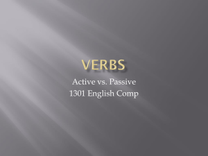 Verbs - EnglishComposition1301