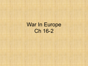 War In Europe Ch 16-2