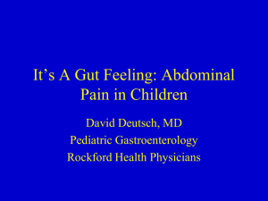 Abdominal Pain in Children