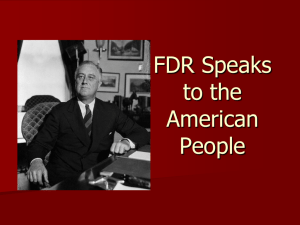 FDR Speaks to the American People
