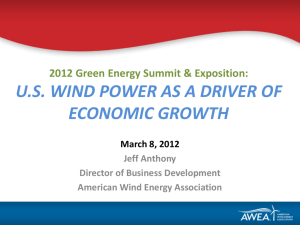 U.S. Annual and Cumulative Wind Power Capacity Growth (Utility