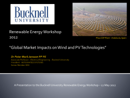 Global Market Impacts on Wind and PV