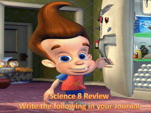 Science 8 Review