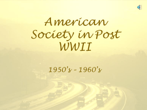 American Society in Post WWII
