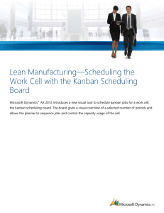 Lean Manufacturing: Scheduling the Work Cell