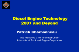 Diesel Engine Technology: 2007 and Beyond