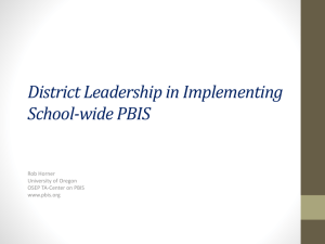 Leadership in Implementing School