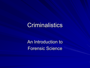 History of Forensic Science