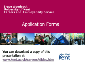 Application Forms - University of Kent