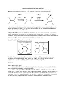 Stereochemical Analysis of Benzil Reduction Question: Is there