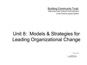 Unit 8: Models & Strategies for Leading Organizational Change