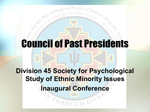the presentation - Society for the Psychological Study of