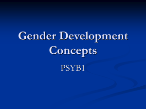 Explaining Gender concepts Lesson 1