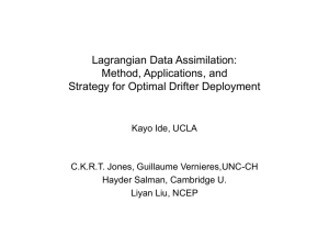 Lagrangian Data Assimilation - Atmospheric and Oceanic Science