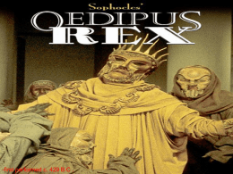 new Oedipus intro