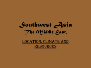 Southwest Asia (The Middle East)