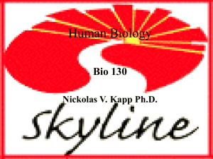 Lecture on Human Biology and general background