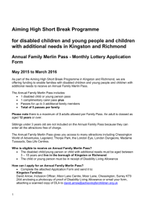Merlin Pass Monthly Lottery Application Form May 2015 to Mar 2016
