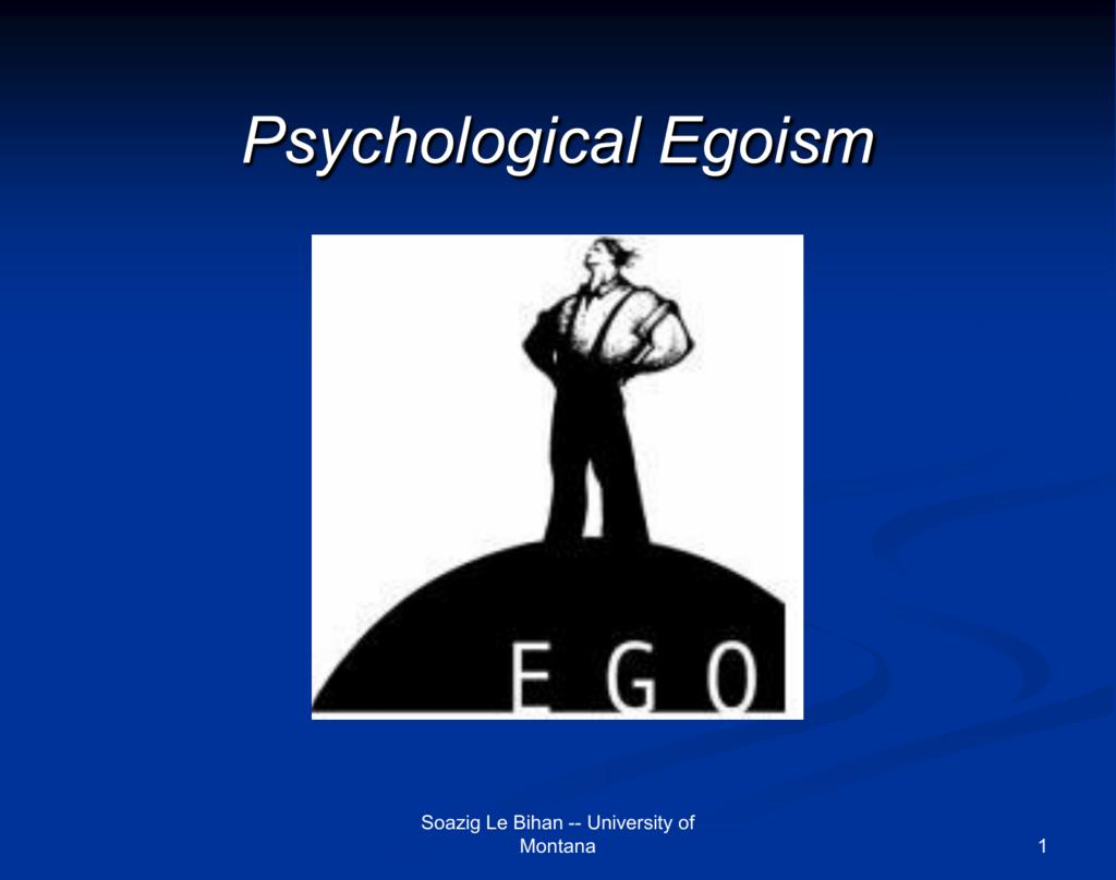 egoism vs altruism