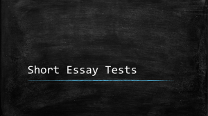 Short Answer Essay ppt