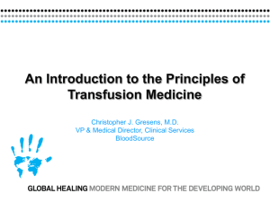 Principles of Transfusion Medicine