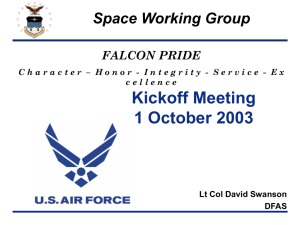 USAFA Update - Space Group