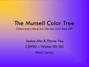 The Munsell Color Tree Colors everywhere, but who can count them