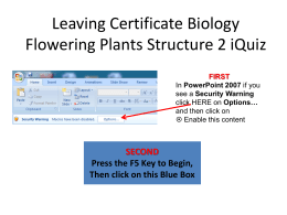 Leaving Certificate Biology Photosynthesis Quiz