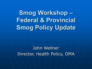 Federal Provincial Air Quality Policies & Programs