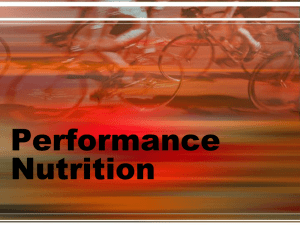 Sports Nutrition for the Adolescent Athlete