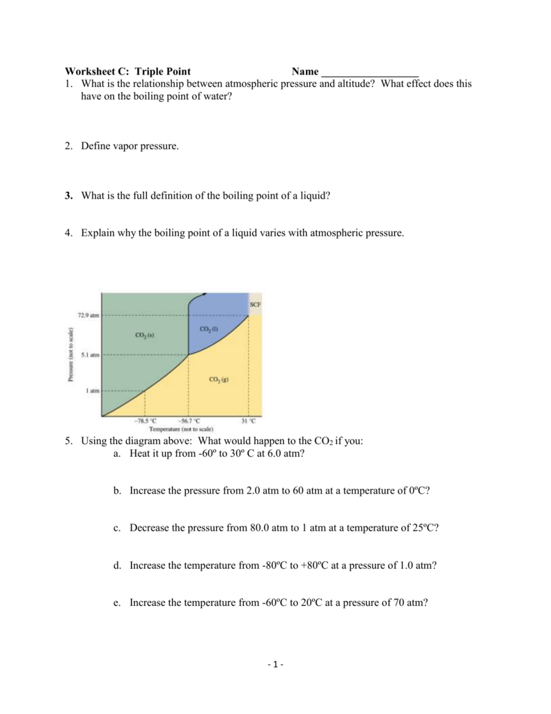 Worksheet c triple point name what is the relationship between pooptronica
