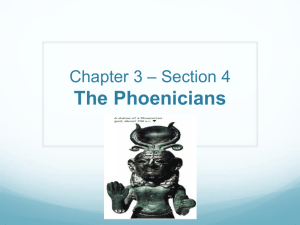 The Phoenicians - Norwell Public Schools