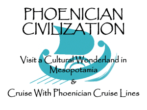 PHOENICIAN CIVILIZATION