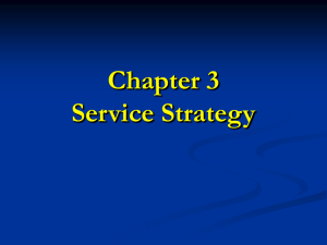 Service Strategy and Market Position