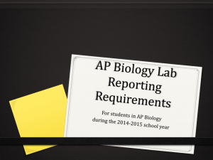 AP Biology Lab Reporting Requirements