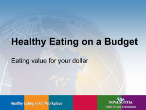 Eating Value for Your Dollars