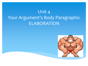 Elaboration - TeacherWeb