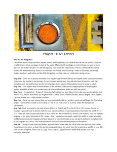 Love Letter Project - Maria Gatling Handout